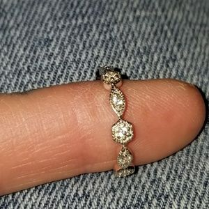 Jewelry - Sterling Silver CZ Cubic Milgrain Eternity Band